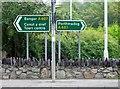 SH4861 : Road direction signs, Caernarfon by nick macneill