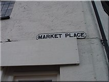 ST8993 : Old sign for Market Place Tetbury by Paul Best