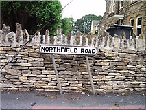 ST8993 : Old sign for Northfield Road Tetbury by Paul Best