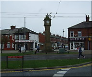 SD3347 : Clock tower memorial, Fleetwood by JThomas
