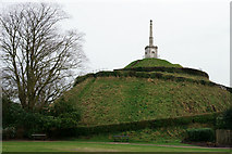 TR1457 : Dane John Mound, Canterbury by Peter Trimming