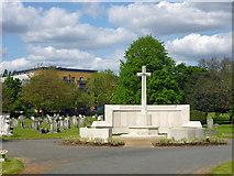 TQ2672 : War memorial, Streatham Cemetery by Robin Webster