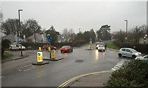SX9065 : Mini-roundabout on Barton Road, Torquay by Derek Harper