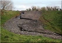SX9066 : Erosion, former Barton tip by Derek Harper