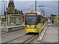 SD9305 : Metrolink Tram at Oldham Mumps Interchange by David Dixon