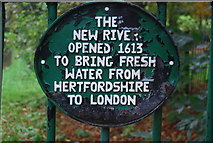 TQ3187 : New River Plaque, Finsbury Park by N Chadwick