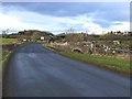 NY3368 : Plump Bridge and the Scottish border by Oliver Dixon