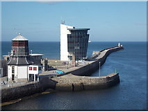 NJ9505 : Aberdeen: the North Pier of the harbour entrance by Chris Downer