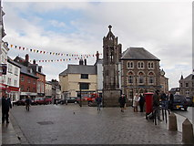 SX3384 : Launceston: Town Square from the south by Chris Downer