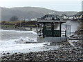 SH7779 : The storm damaged shelter at Deganwy by Richard Hoare