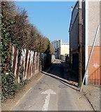 ST1166 : One way traffic along a lane, Barry Island by Jaggery