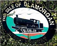 ST1166 : The Vale of Glamorgan railway emblem, Barry Island by Jaggery