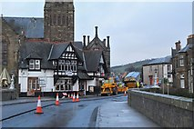 NT2540 : Resurfacing Tweed Bridge, Peebles (2) by Jim Barton