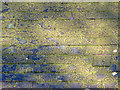 SN1343 : Slate Roof with Lichen: Monington Church by Dylan Moore