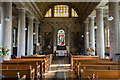 TQ6653 : Interior, St Lawrence church, Mereworth by Julian P Guffogg