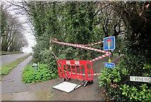 SX9777 : Closed bridleway, Dawlish by Derek Harper
