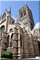 SK9771 : Tower and south transept, Lincoln Cathedral by Philip Halling