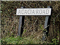 TM0638 : Acacia Road sign by Adrian Cable