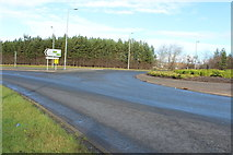 NS3526 : Roundabout at Monkton Road, Prestwick by Billy McCrorie