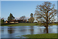 TQ2348 : Little Flanchford across a flooded River Mole by Ian Capper