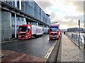 SJ8097 : Event Transport Trucks at the Lowry by David Dixon