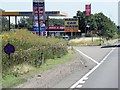 TL3665 : Service Station and Travelodge Entrance, Eastbound A14 by David Dixon