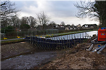 SD4863 : Temporary dam, Lancaster Canal by Ian Taylor