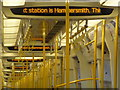 TQ2379 : Shepherd's Bush: the next station is Hammersmith by Chris Downer