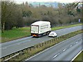 SU1985 : M&S HGV going south, A419, Swindon by Brian Robert Marshall