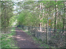 SK1827 : Fauld crater perimeter path-Hanbury, Staffs by Martin Richard Phelan