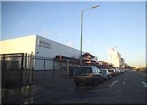 TQ1883 : Hoo Hing Chinese warehouse on the North Circular Road by David Howard