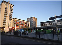 TQ1885 : Old and new blocks on Wembley High Road by David Howard