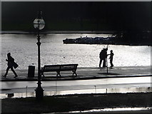 TQ2780 : London: silhouettes by the Serpentine by Chris Downer