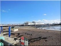 TQ3103 : Beach by Brighton Pier by Paul Gillett