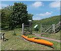 SO7038 : Floral canoe, Ledbury by Jaggery