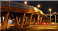 J3474 : Station Street/Bridge End flyover (night view), Belfast - February 2014 by Albert Bridge