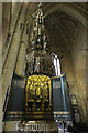 SK9136 : St.Wulfrum's font cover by Richard Croft