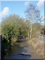 SO8690 : Smestow Brook in Swindon, Staffordshire by Roger  Kidd
