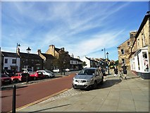 NZ0516 : View west along Galgate, Barnard Castle by Robert Graham
