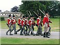 NZ1322 : Redcoats at Raby Castle by Jeff Buck