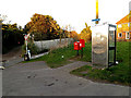 TM4289 : Rigbourne Hill Postbox, Royal Mail Dump Box & Telephone Box by Adrian Cable