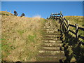 SK1283 : Steps on the way to the top-Mam Tor, Castleton, Derbyshire by Martin Richard Phelan
