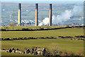 D4201 : Chimneys, Ballylumford power station - February 2014 by Albert Bridge