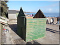 SZ1992 : Mudeford: beach hut 80 is facing the wrong way by Chris Downer