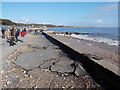 SZ1992 : Mudeford: lifted tarmac on Friars Cliff prom by Chris Downer