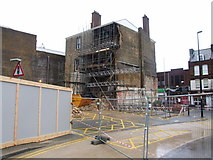 TQ7567 : Collapsed Building, High Street, Chatham by Chris Whippet