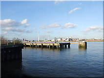 TQ3979 : Jetty on the River Thames, Greenwich Peninsula by Chris Whippet