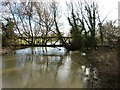 SP7211 : Pipe bridge of the River Thame by Rob Farrow