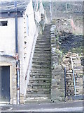 SE0726 : Steps - Wheatley Road by Betty Longbottom