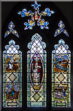 TQ7444 : Stained glass window, St Michael's church, Marden by Julian P Guffogg